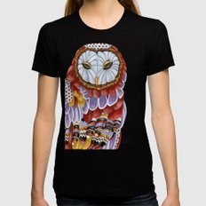Owl Aura 2 MEDIUM Womens Fitted Tee Black
