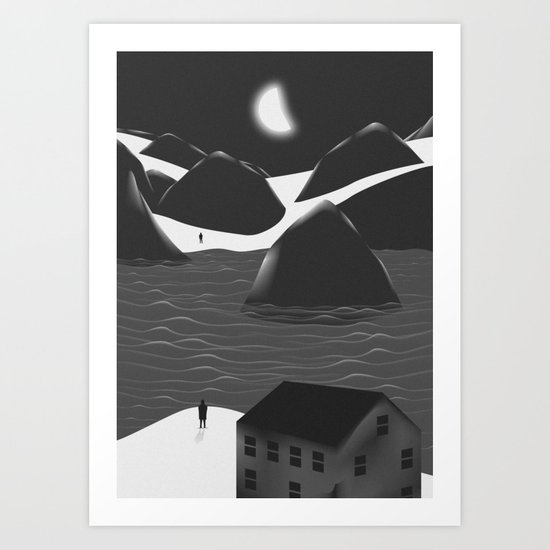 Miss You Art Print