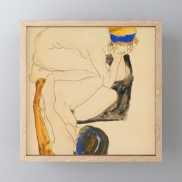 "Egon Schiele ""Zwei Liegende Figuren"" Framed Mini Art Print"