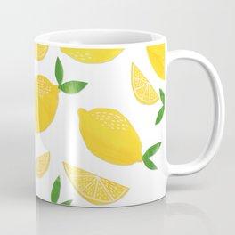 Lemon Cut Out Pattern Coffee Mug