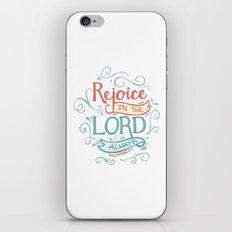 Rejoice in the Lord iPhone & iPod Skin