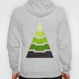 Sap Green Aztec Pyramid Triangle Egypt Minimalist Mid Century Modern Watercolor Geometric Pattern Hoody