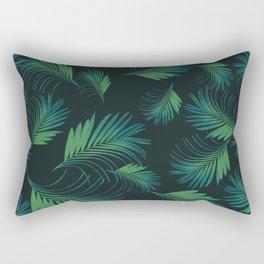 Tropical Night Palms Pattern #1 #tropical #decor #art #society6 Rectangular Pillow
