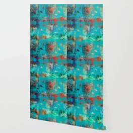 Aztec Turquoise Stone Abstract Texture Design Art Wallpaper