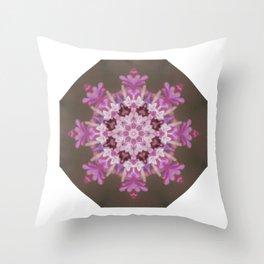 Lilac floral flake Throw Pillow