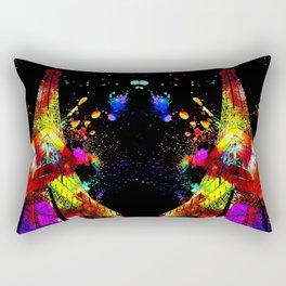 Tour Eiffel Watercolor Grunge Rectangular Pillow