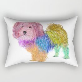 Colorful Maltese Yorkshire Terrier Mix Rectangular Pillow