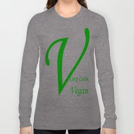 Ceep Calm Vegan   (A7 B0062) Long Sleeve T-shirt