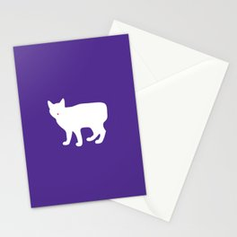 Cat Silhouettes: Manx Stationery Cards