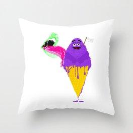 PURPLE ICEA CREAM Throw Pillow
