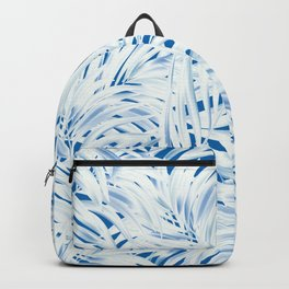 Tropical Palms Blue Backpack