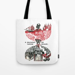 Red & Black London from A Darker Shade Of Magic Tote Bag