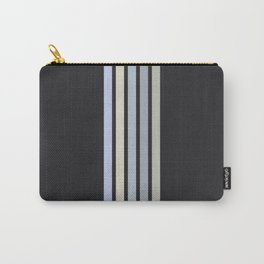 Colorful Stripes Black V Carry-All Pouch