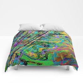Mardi Gras Marble Comforters