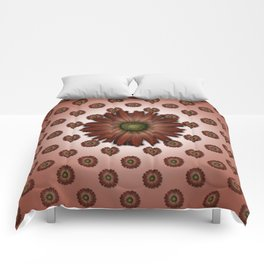 """Big Red Daisy, (pattern)"" Comforters"