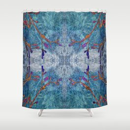 Snowflakes & Wine Shower Curtain