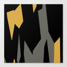 Black yellow and gray abstract Canvas Print