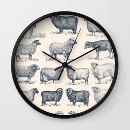 Types of Sheep Wall Clock