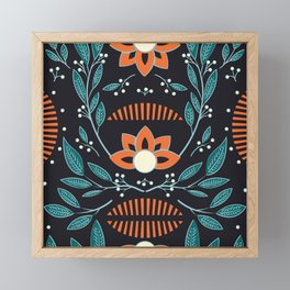 Dark flora 001 Framed Mini Art Print