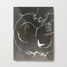 Hip Hop Silhouette: Aaliyah Metal Print