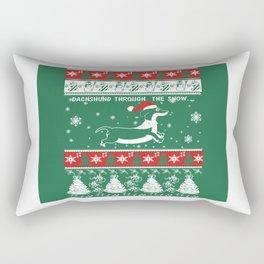 DACHSHUND THROUGH THE SNOW Rectangular Pillow