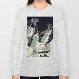 Oriental Palm Riddle Vintage Long Sleeve T-shirt