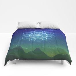 Sacred Geometry (Cosmic Connection) Comforters