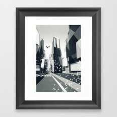 Yeti coming to town. Framed Art Print