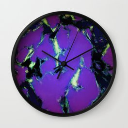 Soft blue shatter Wall Clock