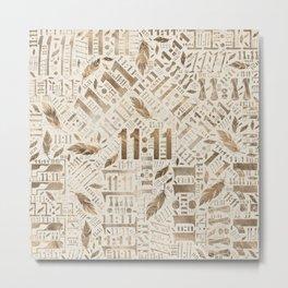Eleven Eleven Numerology Pattern Angel Feathers #3 Metal Print