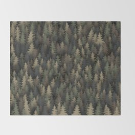 Forest camouflage Throw Blanket