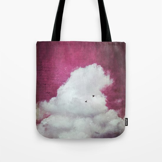 the cloud - bright red sky version Tote Bag