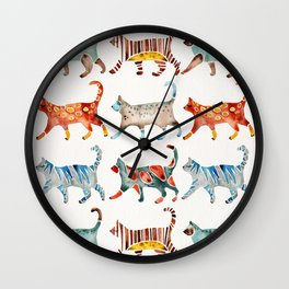 Cat Collection: Watercolor Wall Clock