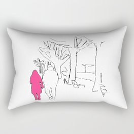 twin flame Rectangular Pillow