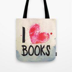 I Heart Books typography  Tote Bag