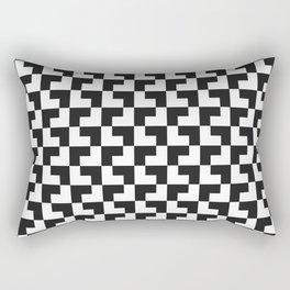 Black and White Tessellation Pattern - Graphic Design Rectangular Pillow