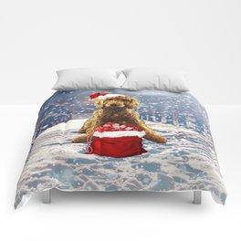 Christmas Golden Doodle Comforters