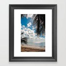 Couple at the beach Framed Art Print