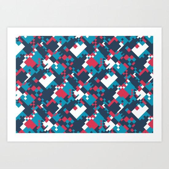 pixelated 2.0 Art Print