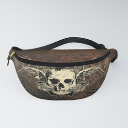 Awesome crepy skull with crow Fanny Pack