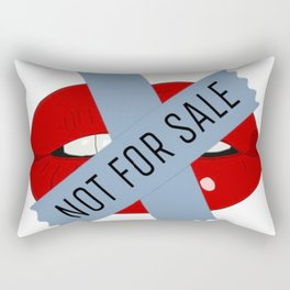 Not For Sale mouth Rectangular Pillow