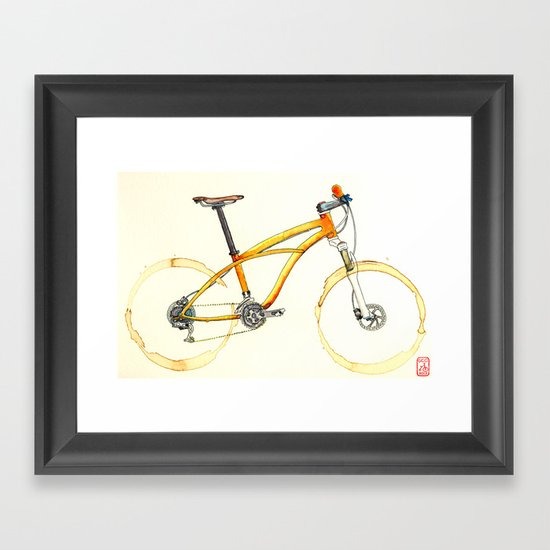 Coffee Wheels #08 Framed Art Print