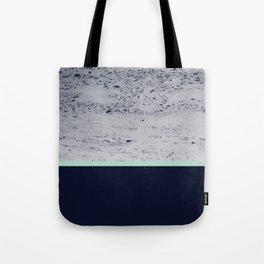 Navy Blue Mint on Navy Blue Concrete #1 #decor #art #society6 Tote Bag