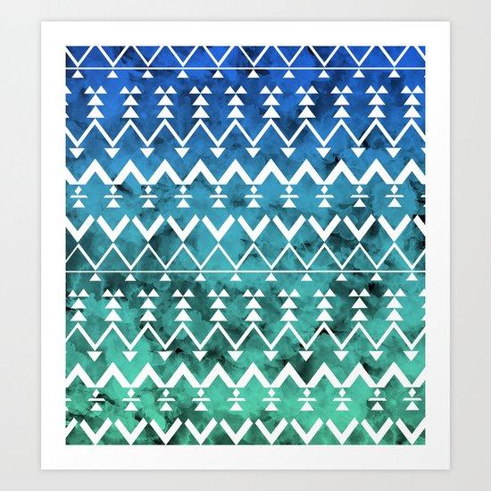 Triangle Tribal Art Print