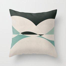 Sinuous Curves 2 Throw Pillow
