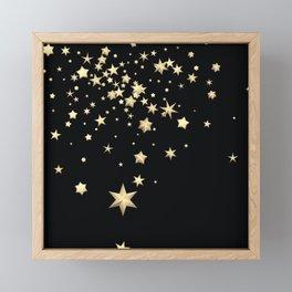 Golden Stars 3 Framed Mini Art Print