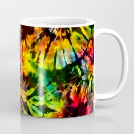 Vivid Psychedelic Hippy Tie Dye Coffee Mug