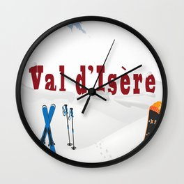 Val d'Isère, French Alps Wall Clock