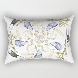 Tide Pool Beach Mandala 1 - Watercolor Rectangular Pillow