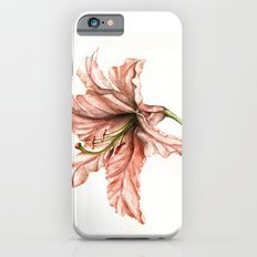 Pink Lily Flower Watercolor Slim Case iPhone 6s
